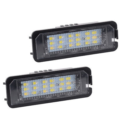 2pcs LED License Number Plate Light For VW Golf5 6 7 Lupo 9N 6R Phaeton LD1759