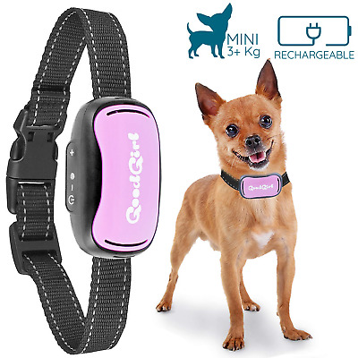 Small Dog Bark Collar by GoodBoy Rechargeable And Waterproof Vibrating...