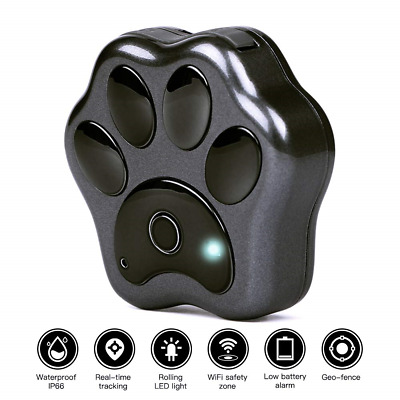Pet GPS Tracker Dog Positioning Locator WIFI Anti-lost Geo-fence Real Time...