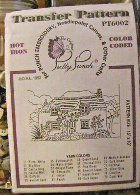 Pretty Punch Iron Transfer Pattern, Punch Embroidery, etc. House #PT6002 -NOS