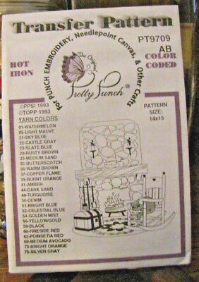 Pretty Punch Iron Transfer Pattern, Punch Embroidery - Fireside #9709AB - NOS
