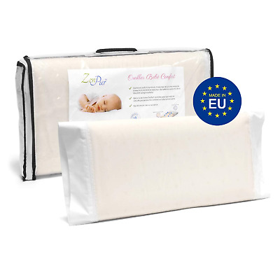 ZenPur Orthopedic Baby Pillow - Flat-Head Syndrome Prevention - 50 x 30 cm -...