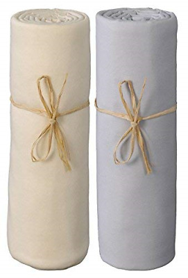 P'tit Basile - Lot of 2 cot Bed Jersey Fitted Sheets - 100% Organic Cotton -...