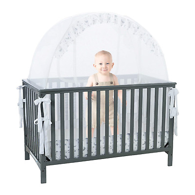 Baby Cot Safety Pop Up Tent: Premium Bed Canopy Netting Cover| See Through...