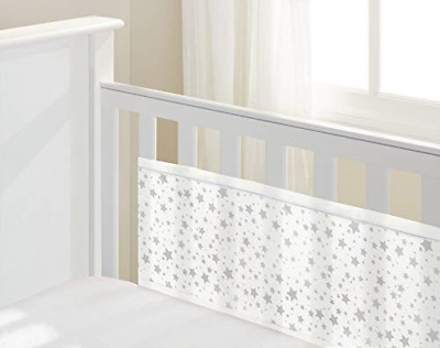 BreathableBaby Two Sided Cot Mesh Liner (Twinkle Stars)