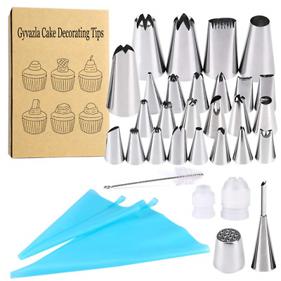 Cake Decorating Set, Gyvazla 32pcs Icing Piping Tips Including 20 Small...