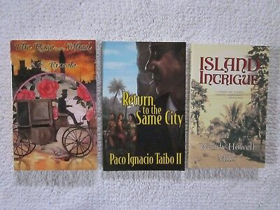 Lot Of 3 Sc Poisoned Pen Press Mysteries / 2002 - 2006 / Various Authors