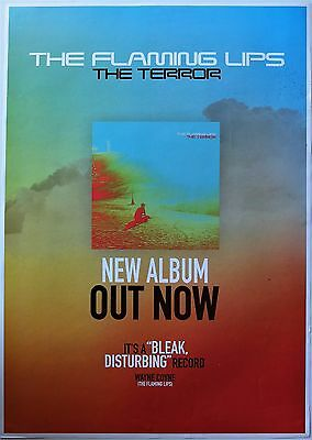FLAMING LIPS Australian A2 PROMO POSTER THE TERROR Album Music Band CD