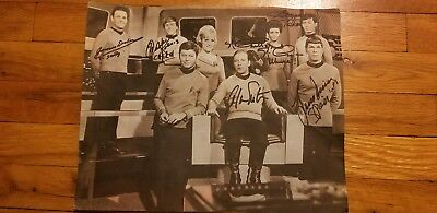 VERY RARE ORIGINAL STAR TREK CAST SIGNED - Great Gift or Addition to Collection