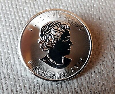1oz Silver Maple Coin 2016, Enclosed in Capsule.