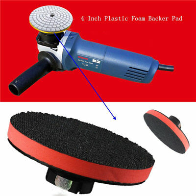 4 Inch Plastic  Thread Foam Backer Pad For Diamond Polishing Pads Stone Polish W
