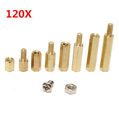 Suleve M3BH2 M3 Male-Female Brass Hex Column Standoff Support Spacer Pillar For