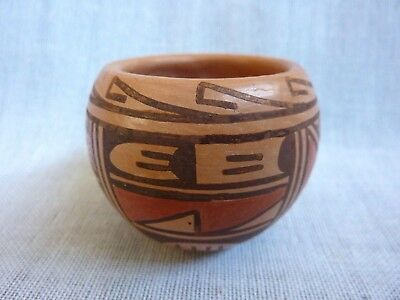"SCARCE~Artist-signed (2"") Hopi Pottery Vessel by (Kayla Namoki @ 7 Years Old)~NR"