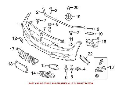 For BMW Genuine Bumper Cover Spacer Panel Front 51747357006