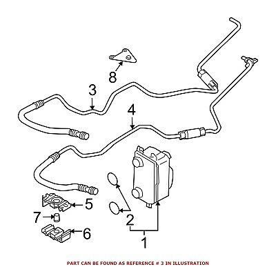 For Bmw Genuine Automatic Transmission Oil Cooler Hose Assembly