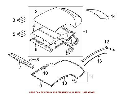 For Bmw Genuine Convertible Top Seal Rear Center 54377220701