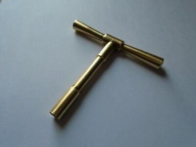 Elliott T Bar Solid Brass Clock Key