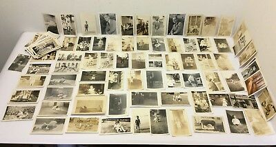 "Mixed Lot Vintage Black & White 3"" x 5"" Children Photography Photos 30s 50s 60s"
