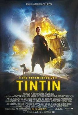 The Adventures of Tintin Original D/S 1 Sheet Rolled Movie Poster 27x40 NEW 2011