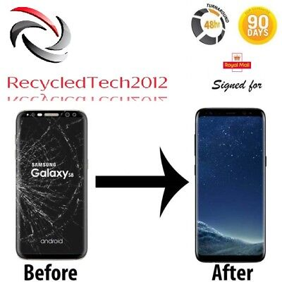 Samsung S8 Cracked LCD Screen Glass Repair & Replacement Service  LCD Must Work