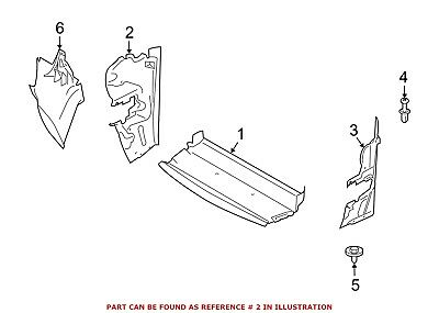 For BMW Genuine Radiator Support Side Panel Front Right 51747192198