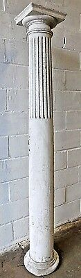 1880's Wooden Antique Fluted PORCH COLUMN With Cap & Base VICTORIAN Style ORNATE