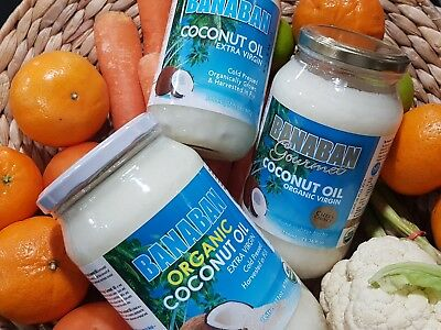 Banaban Virgin COCONUT OIL Pure Organic Cold & Expeller Pressed Glass bottle