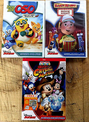 Disney Mickey Mouse Clubhouse Handy Mandy DVD Agent Oso Disney Junior Sealed Lot