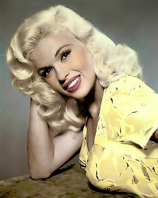 """JAYNE MANSFIELD KISS THEM FOR ME 1957 ACTRESS 8x10"""" HAND COLOR TINTED PHOTOGRAPH"""