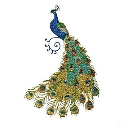 45 Peacock Artistry Designs for Machine Embroidery - On a CD