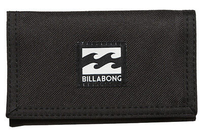 New + Tag Billabong Atom Tri-Fold Boys Mens Kids Wallet Surf Black Polyester