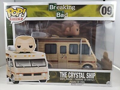 Funko Pop! Rides The Crystal Ship #09 w Jesse Pinkman and Box Breaking Bad RARE