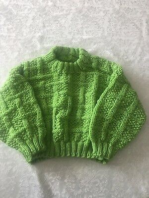 Hand Knitted -Box Weave Jumper