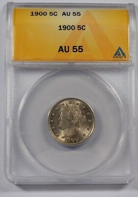 1900 Liberty Head Nickel AU 55  About Uncirculated Nickel