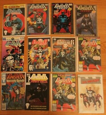 Classic Punisher Comic Book LOT Marvel Annual Armory Summer Special 2099 Escape