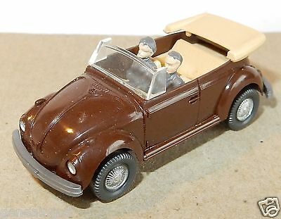 Wiking Ho 1/87 Vw Volkswagen Kafer Beetle Cox 1303 Beetle Cabriolet 2Personnages
