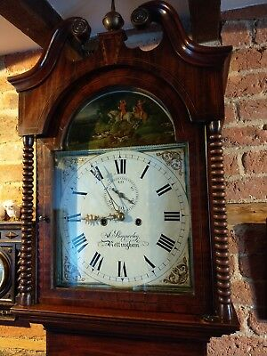 Gorgeous Antique Nottingham Grandfather 8 Day Clock Circa 1830 A Shepperley