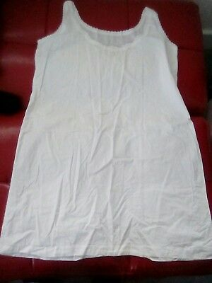 antique vintage french nigbty dress cotton white