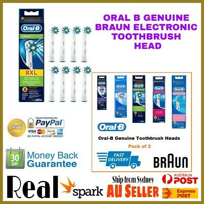 Oral B Genuine Braun Electric Toothbrush Head - New in Box - Sydney Seller