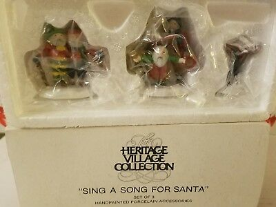 Dept 56 Sing A Song FOR SANTA Heritage Village 5604-9 NIB  RETIRED