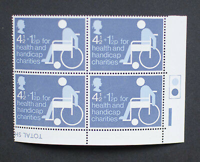 GB 1975 Health and Handicap. MNH Traffic Light block of 4