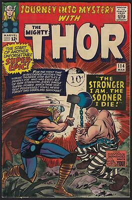 Journey Into Mystery With Thor #114 1st App & Origin of Absorbing Man VFN-