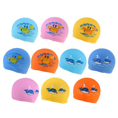 Unisex Adult Kids Children Swimming Pool Cap PU Swim Hat Waterproof Shower