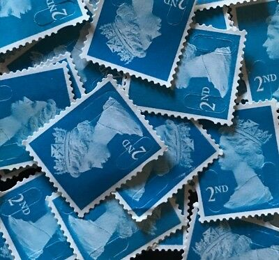 50 2Nd Class Unfranked Stamps No Gum/used Excellent Condition