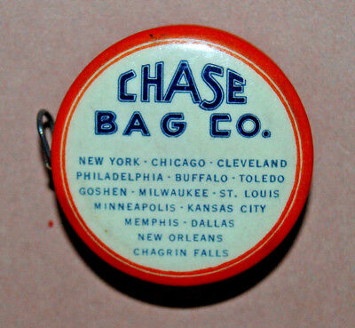 """Antique Chase Bag Co. Advertising Cloth Tape Sewing Measure """"bags Of All Kinds"""""""