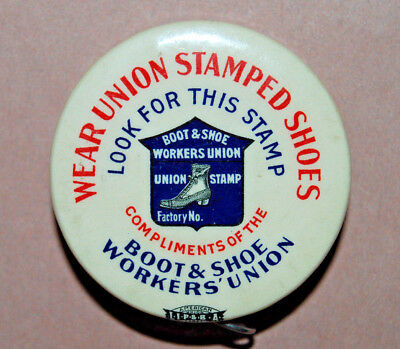 Antique Advertising Union Stamped Shoes Cloth Tape Sewing Measure