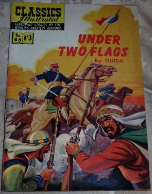 Classics Illustrated - Under two flags No.86 good condition see both images