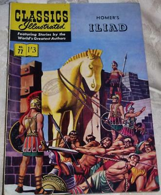 Classics Illustrated - Homers Iliad No.77 good condition see both images