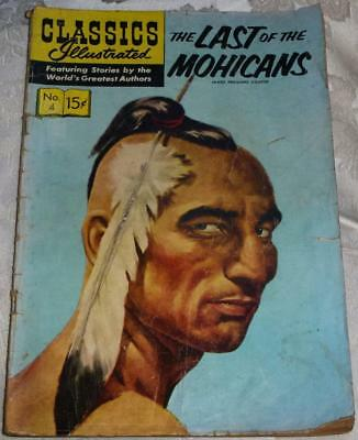 Classics Illustrated (USA copy) - Last of the Mohicans No.4 see both images