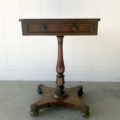 Antique English William IV Rosewood Work Table Lamp Table circa 1830